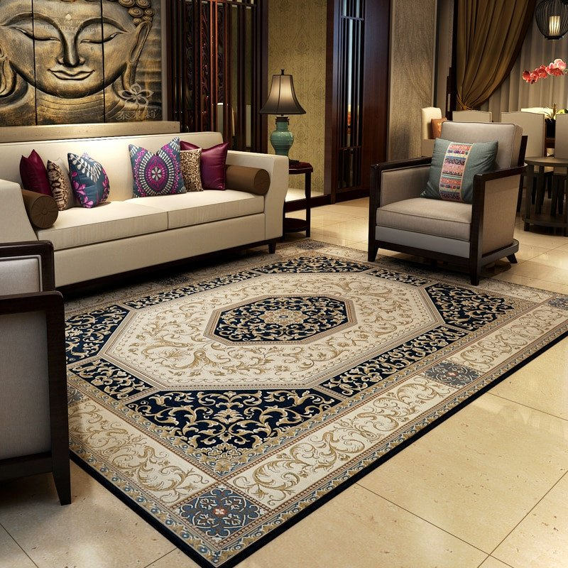 Traditional Living Room Carpets Luxury Traditional Chinese Vintage Rugs and Carpets for Home Living Room Classic Bedroom Floor Mat