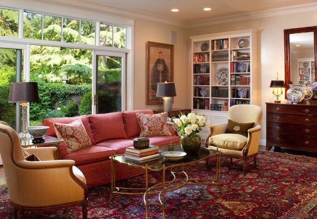 Traditional Living Room Carpets Unique Lafayette Residence Traditional Living Room San Francisco by Kathleen Burke Design