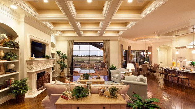 Traditional Living Room Ceiling Awesome 15 Beautiful Traditional Coffered Ceiling Living Rooms