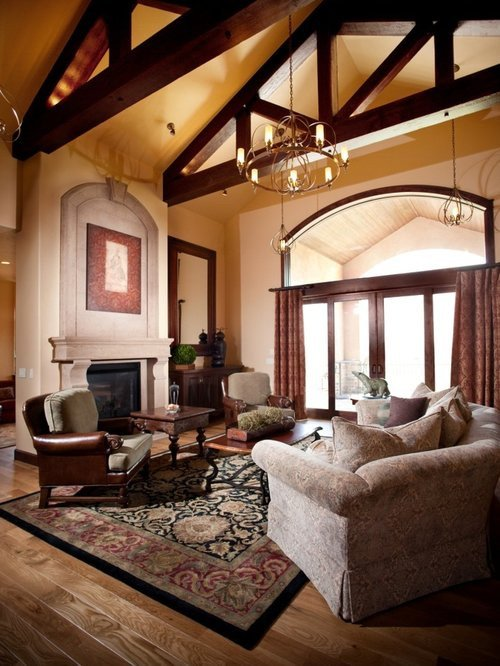 Traditional Living Room Ceiling Awesome Cathedral Ceiling with Exposed Beams Home Design Ideas Remodel and Decor