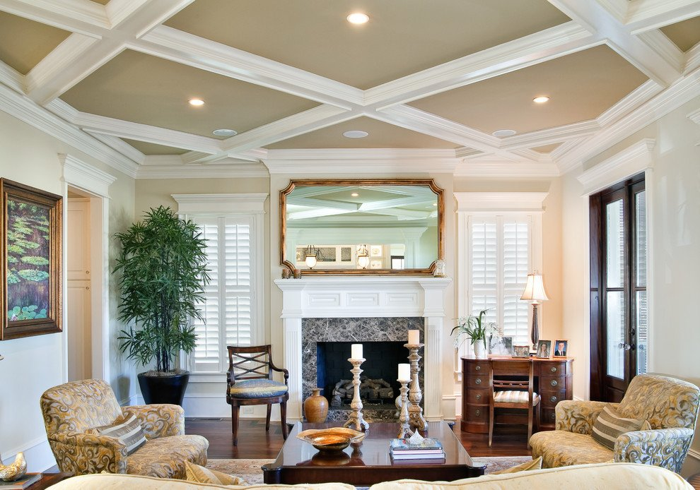 Traditional Living Room Ceiling Lovely 10 Decorative Living Room with Ceiling Molding Ideas
