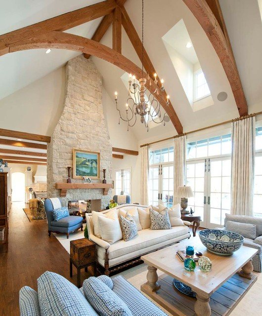 Traditional Living Room Ceiling Lovely Lupton Traditional Living Room Dallas by Danes Custom Homes