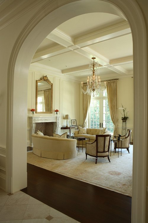 Traditional Living Room Ceiling Luxury Paula Grace Designs