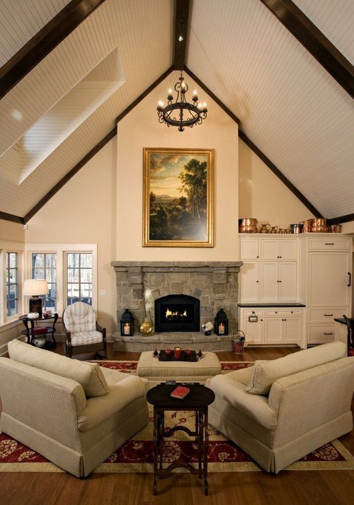 Traditional Living Room Ceiling Luxury Should Cathedral Ceilings Be the Same Color as the Walls or A Lighter Shade