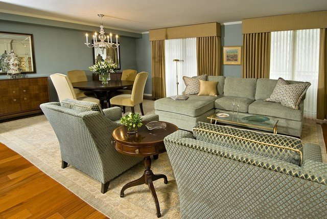 Traditional Living Room Color Elegant Clean Lines and soothing Colors Enhance the Space