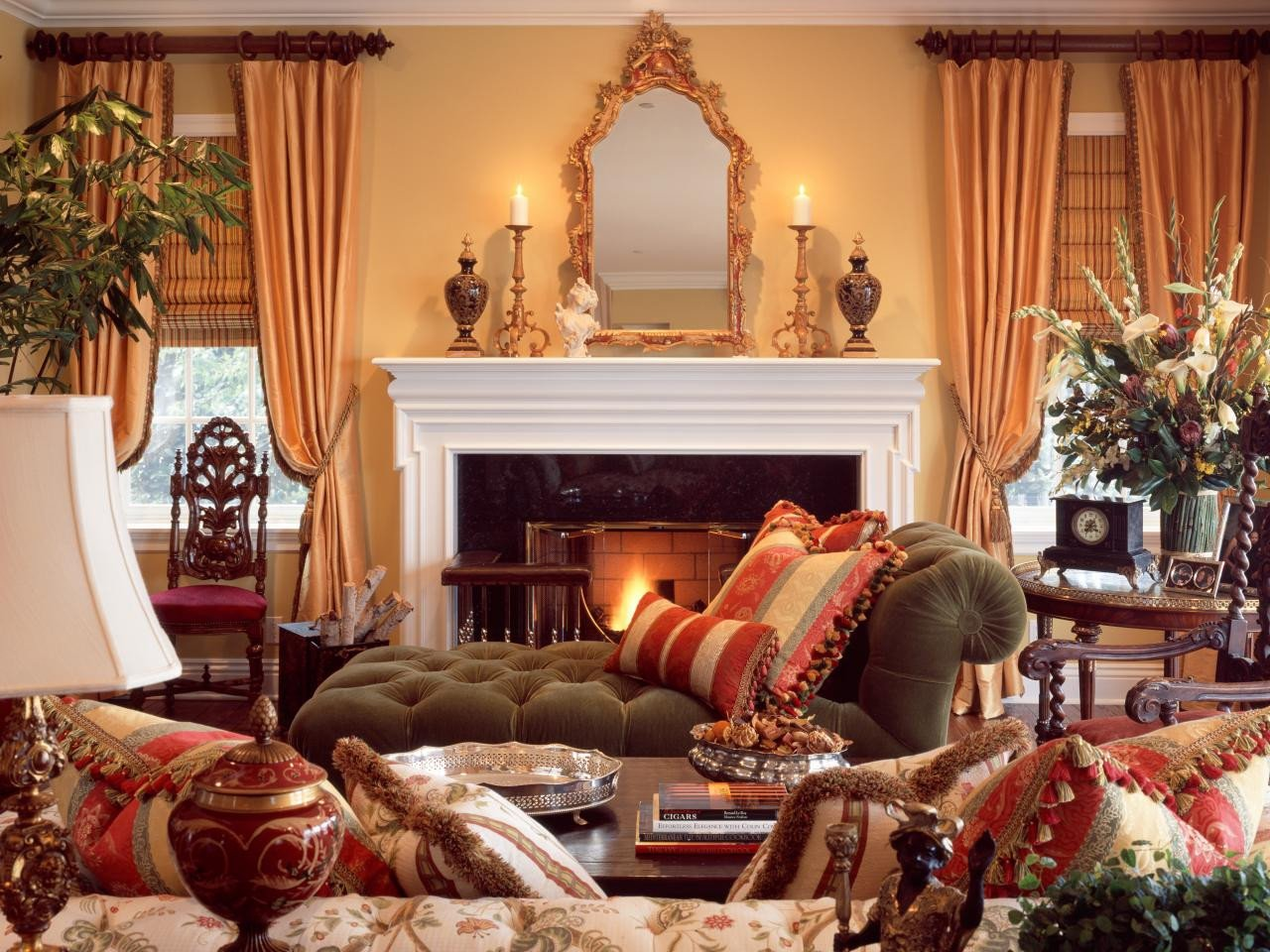 Traditional Living Room Color Lovely Traditional Style 101 From Hgtv
