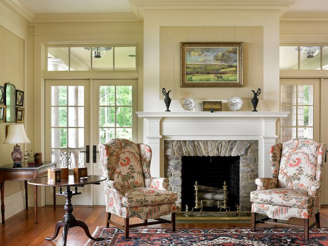 Traditional Living Room Fireplace Elegant Mountain High Style Traditional Living Room atlanta by Historical Concepts