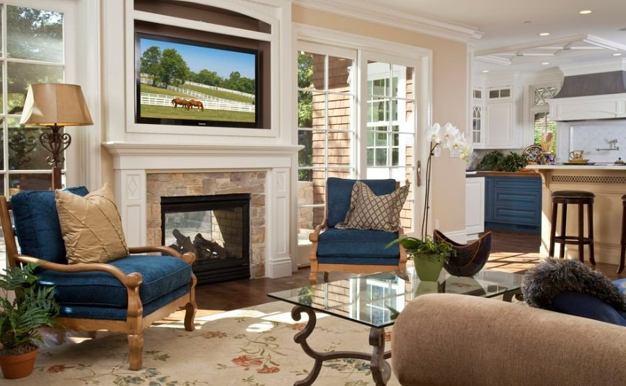 Traditional Living Room Fireplace Inspirational Traditional Living Room Furniture Arranged Around Fireplace Home Decorating Trends Homedit