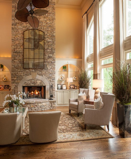 Alpharetta GA Residence Traditional Living Room Atlanta by Regas Interiors LLC