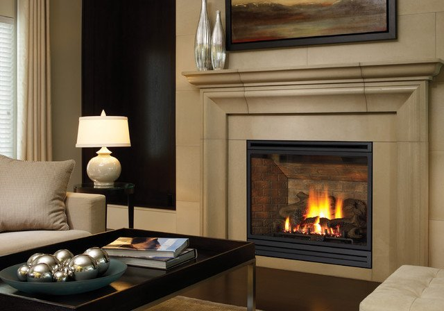 Traditional Living Room Fireplace New Regency Bellavista B41xte Gas Fireplace Traditional Living Room Vancouver by Regency