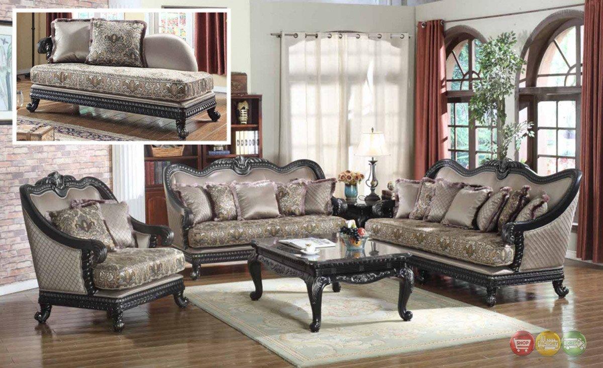 Traditional Living Room Furniture Elegant Traditional formal Living Room Furniture sofa Dark Wood Frame Couch
