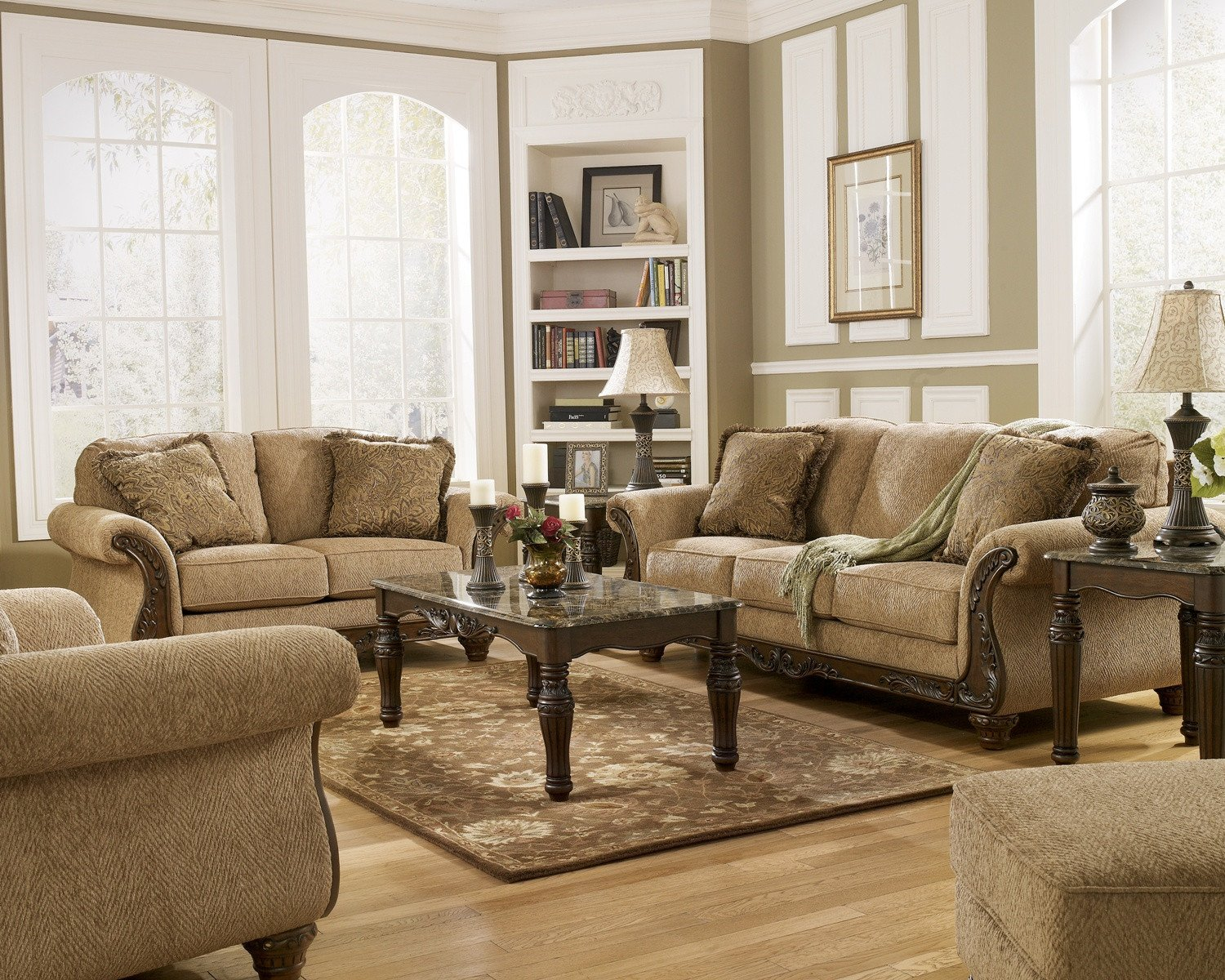 Traditional Living Room Furniture Fresh Cambridge Amber Traditional Living Room Furniture Set Wood Accent