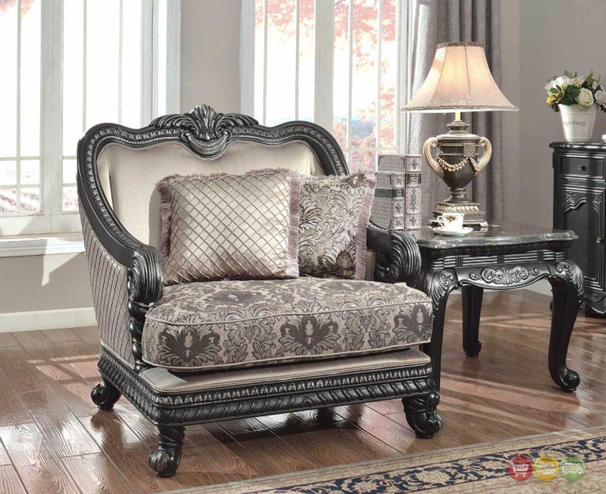 Traditional Living Room Furniture Fresh Florence Traditional formal Living Room Furniture Arm Chair Dark Wood Frame