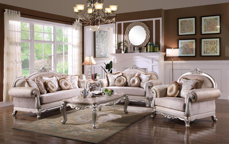 Traditional Living Room Furniture Fresh Luxurious Traditional Living Room Furniture sofa Set Exposed Wood Platinum Finish