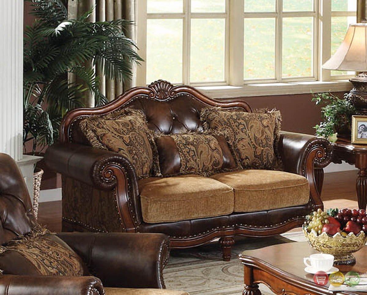 Traditional Living Room Furniture Lovely Dreena Traditional formal Living Room Set Carved Cherry Wood Frames