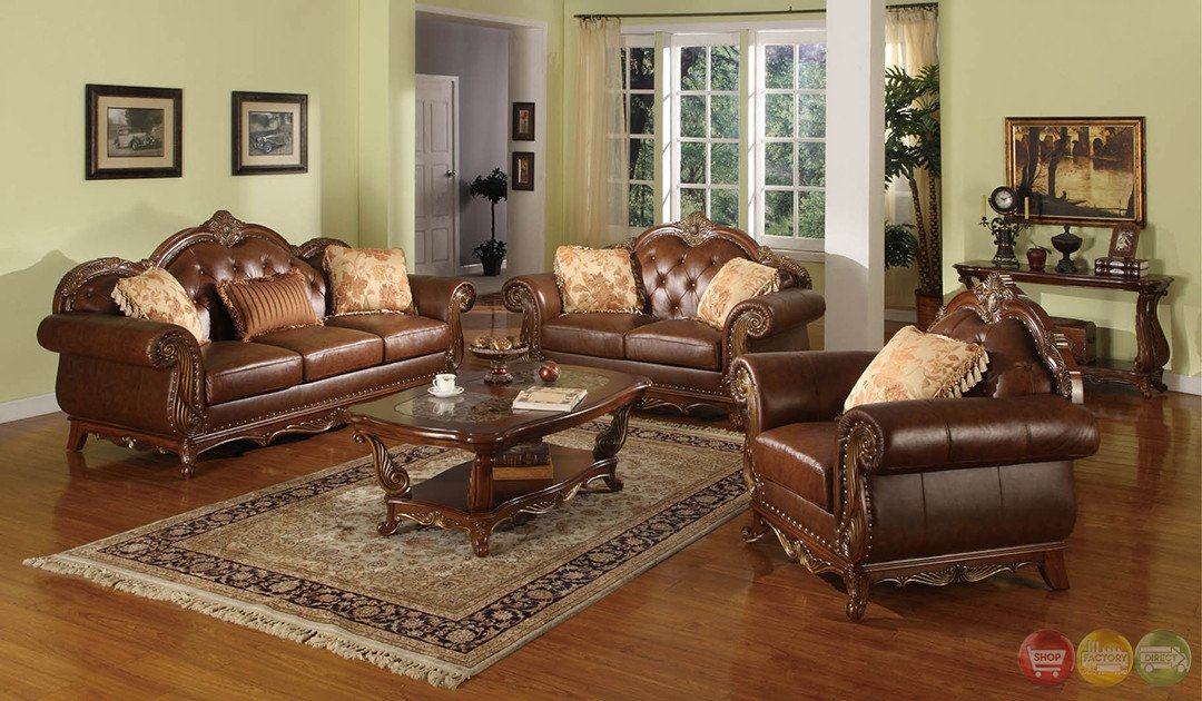 Traditional Living Room Furniture Luxury Beth Traditional Medium Wood formal Living Room Sets with Carved Accents Rpcmo88