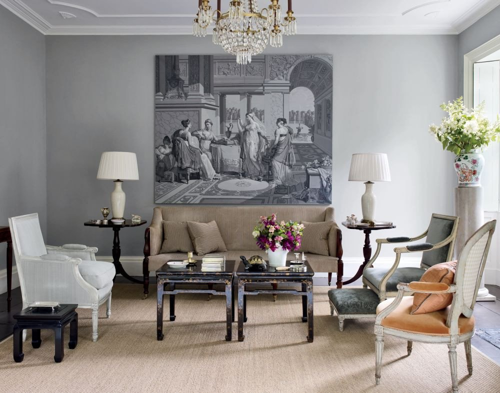 Traditional Living Room Gray Beautiful Traditional Living Room by Shostak & Co Inc by Architectural Digest