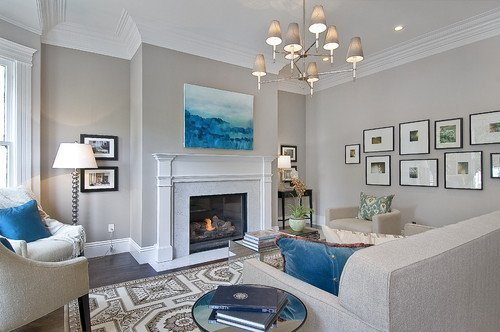 Traditional Living Room Gray Elegant Abstract Art In Traditional Design Provident Home Design