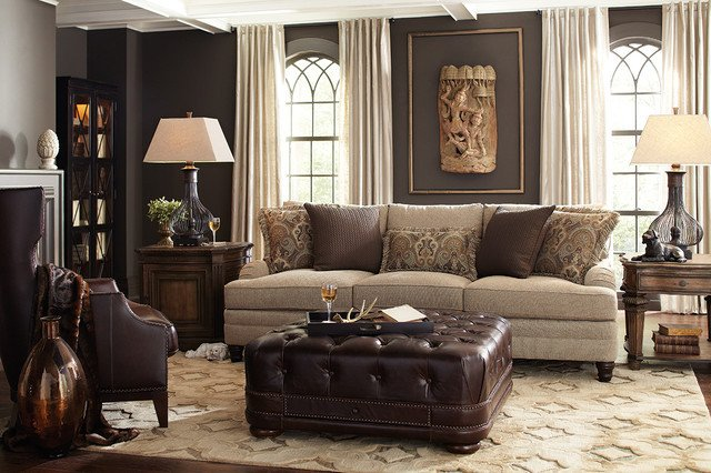 Traditional Living Room Gray Inspirational Dark Gray Walls In Neutral Living Room Traditional Living Room Houston by Star Furniture