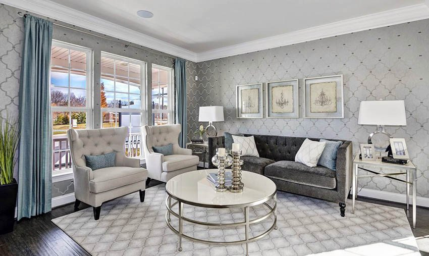 Gray Living Room Ideas Design Designing Idea