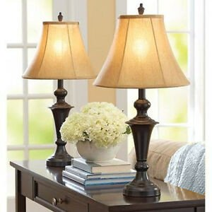 Traditional Living Room Lamps Best Of Traditional Table Lamp Set Of 2 Metal Base Fabric Shade Living Room Home Decor