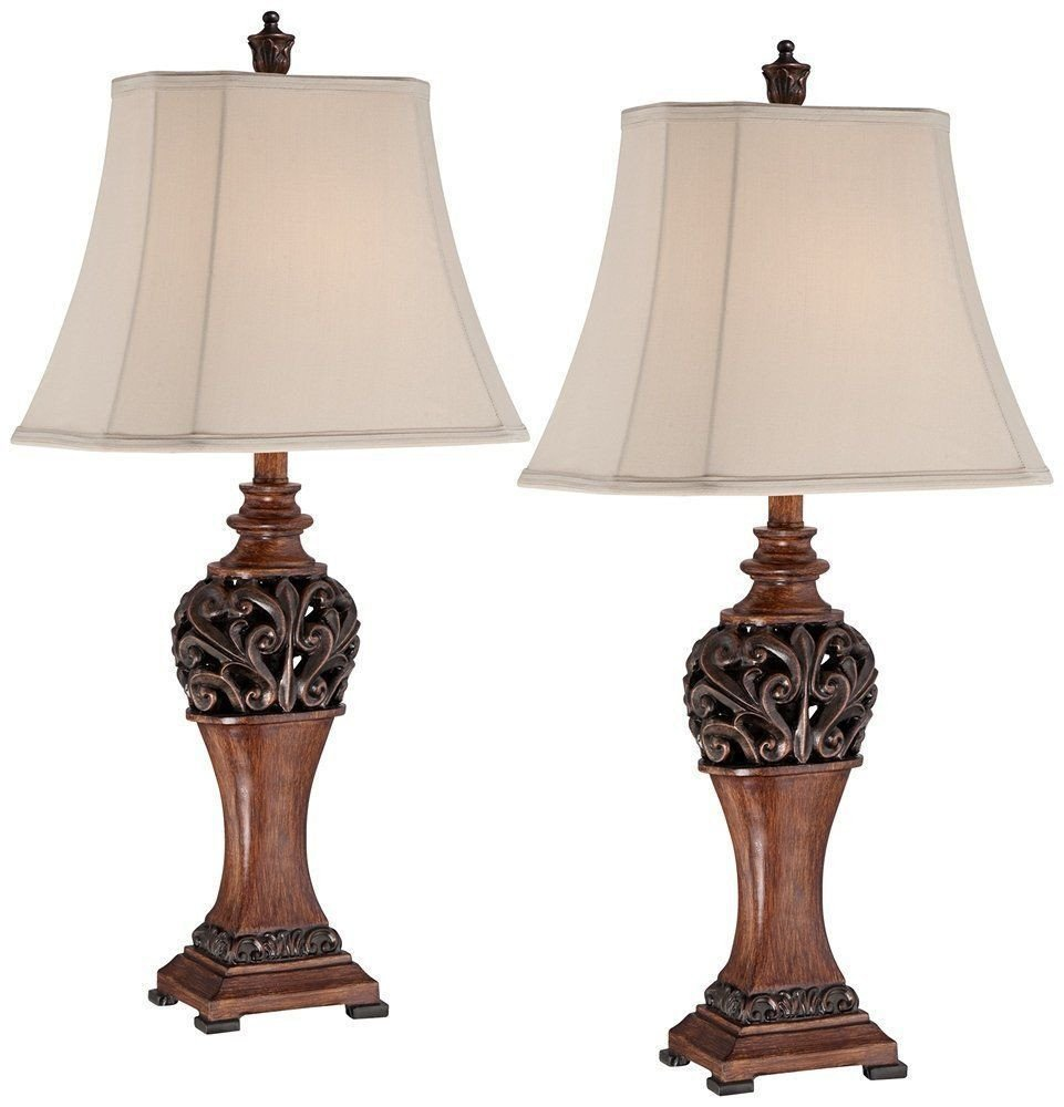 Traditional Living Room Lamps Inspirational 2 Bronze Set Traditional Table Lamps Lighting Led Decor Living Room Antique