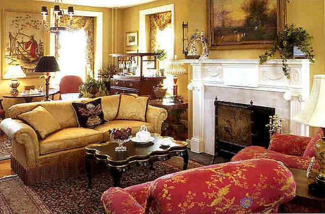 Living Room of Allentown Designer Showhouse with rugs by Brandon Oriental Rugs Traditional