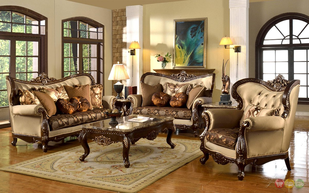 Traditional Living Room Sets Awesome Antique Style Traditional Wing Back formal Living Room Furniture Set Tan Brown