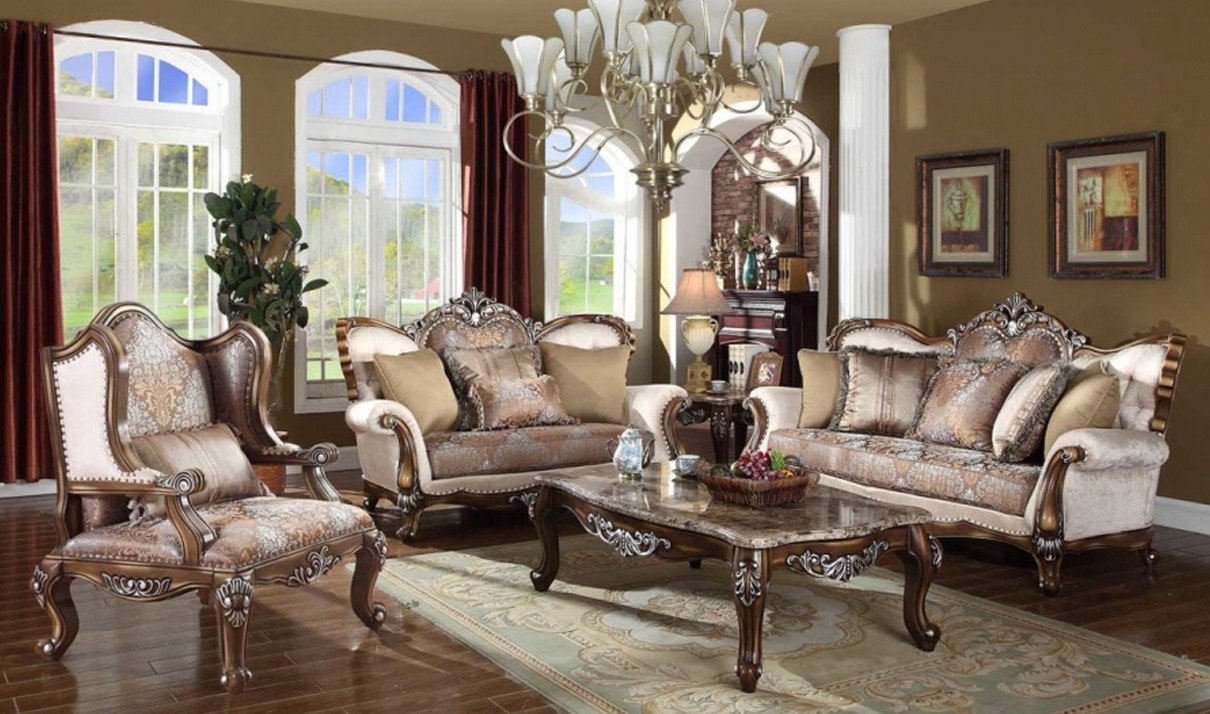 Traditional Living Room Sets Beautiful 603 Sandro Traditional Living Room Set In Light Cherry by Meridian Furniture
