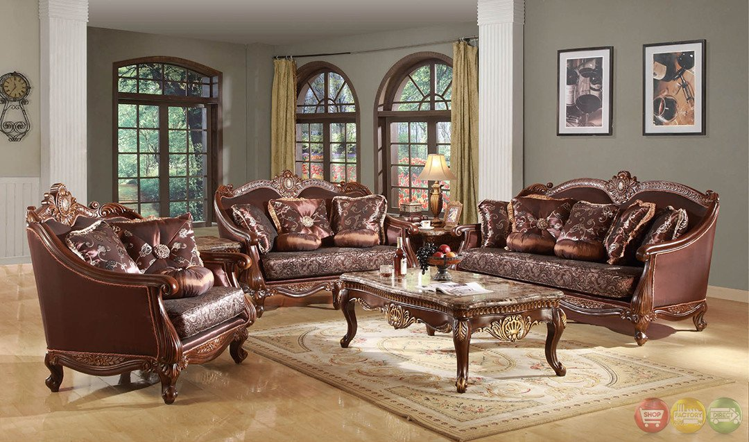 Traditional Living Room Sets Beautiful Marlyn Traditional Dark Wood formal Living Room Sets with Carved Accents Rpcmo85