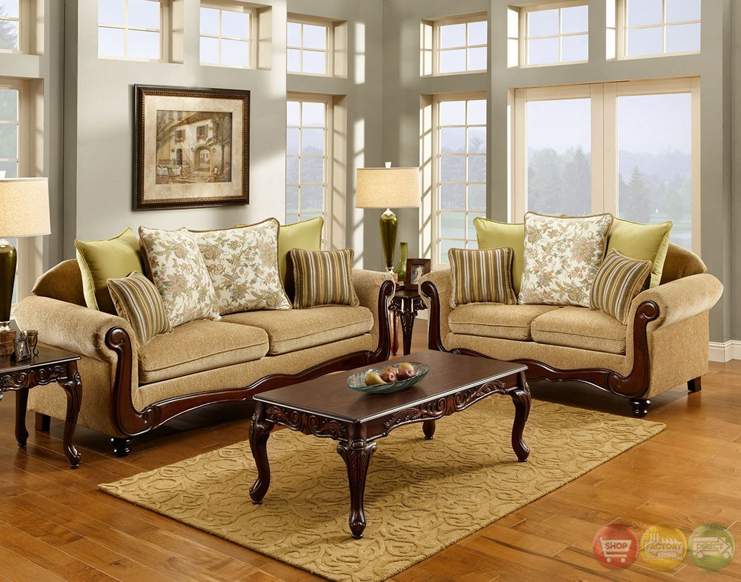 Traditional Living Room Sets Fresh Banstead Traditional Wheat Living Room Set with Pillows Sm7690
