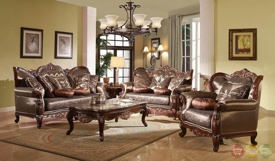 Traditional Living Room Sets Fresh Rhapsody Traditional Dark Wood formal Living Room Sets with Carved Accents Rpcmo84