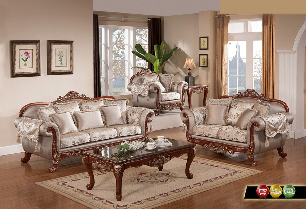 Traditional Living Room Sets Inspirational Luxurious Traditional formal Living Room Furniture Exposed Carved Wood Gold Accents