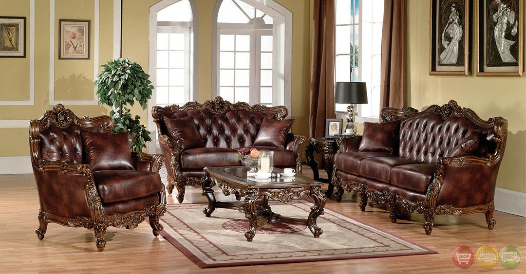 Traditional Living Room Sets Lovely Lilly Traditional Dark Wood formal Living Room Sets with Carved Accents Rpcmo93