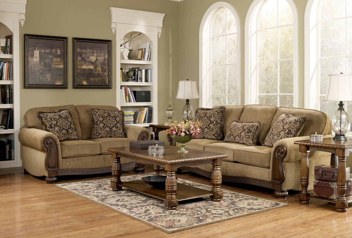 Traditional Living Room Sets Lovely Lynnwood Traditional Living Room Furniture Set by ashley