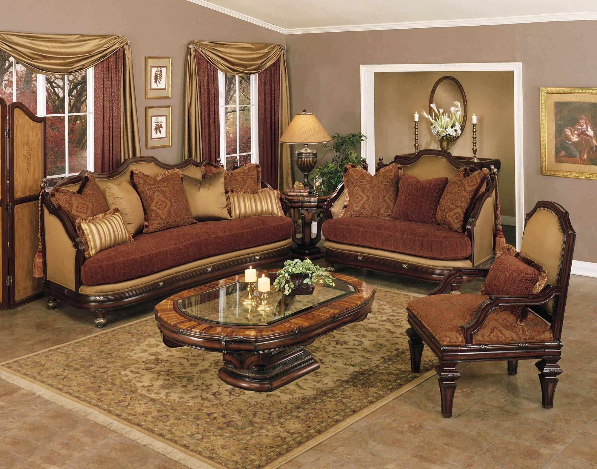 Traditional Living Room Sets Lovely Traditional Fabric Covered Living Room Set Living Room Furniture Living Room Sets sofas