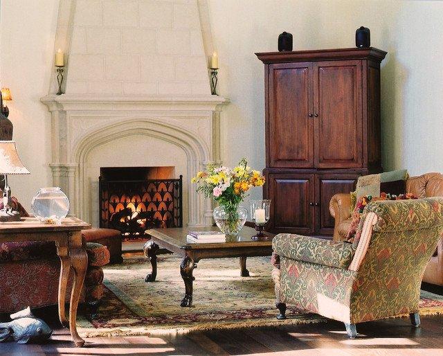 Traditional Living Room toronto Lovely Sunbury Mantel with Overmantel Traditional Living Room toronto by Tartaruga Design Inc