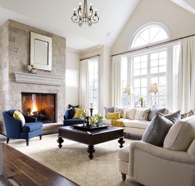 Traditional Living Room toronto New Jane Lockhart Kylemore Custom Home Traditional Living Room toronto by Jane Lockhart