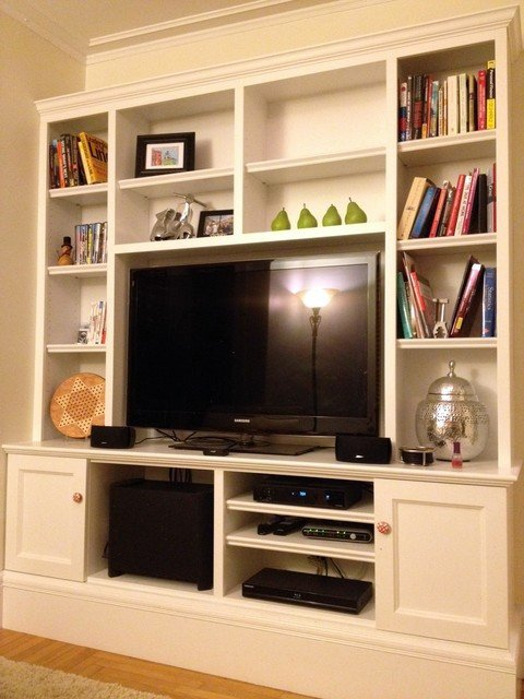 Traditional Living Room Tv Awesome Living Room Tv Wall Unit Traditional Living Room Boston by G B Woodworking