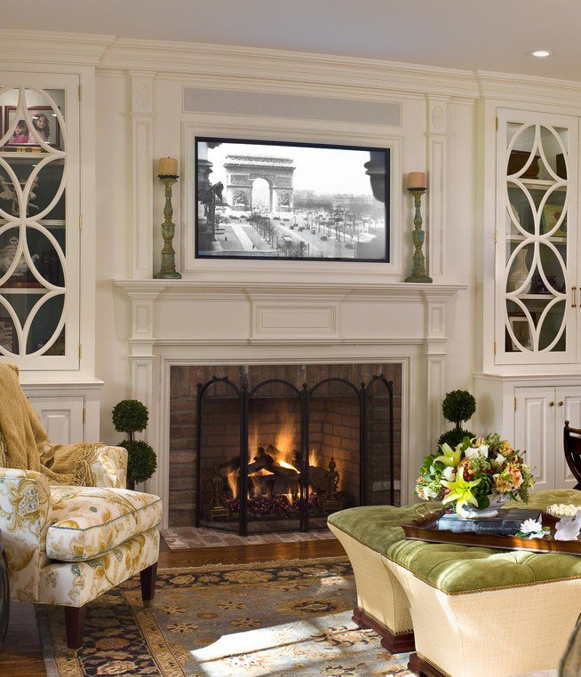 Traditional Living Room Tv Awesome Placing A Tv Over Your Fireplace A Do or A Don T Betterdecoratingbiblebetterdecoratingbible