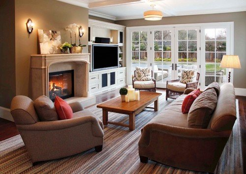 Traditional Living Room Tv Best Of How to Lay Out A Tv & Fireplace Side by Side Hamptons Style