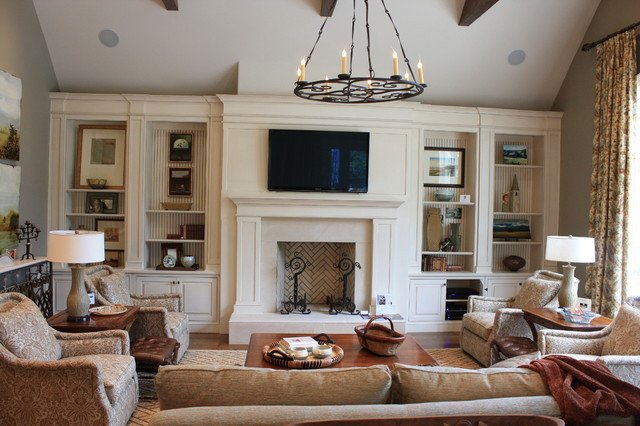 Traditional Living Room Tv Inspirational Family Room Built Ins Traditional Living Room Nashville by Wildwood Cabinetry