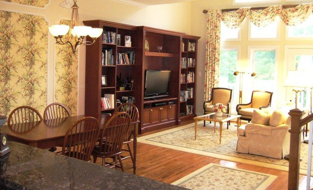 Traditional Living Room Tv Inspirational Traditional townhome with Custom Tv Wall Cabinet Traditional Living Room Dc Metro by