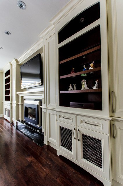 Traditional Living Room Tv New Fireplace Tv Wall Unit Traditional Living Room toronto by Spaces Inc