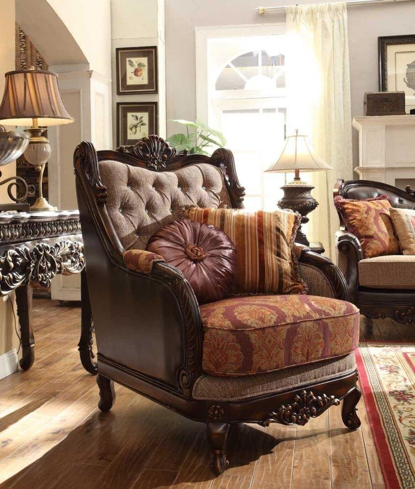 Traditional Living Room Upholstered Chairs Beautiful Homey Design Hd 3630 Traditional Upholstered Living Room sofa Chair
