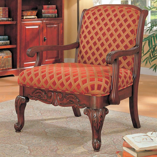 Traditional Living Room Upholstered Chairs Beautiful Traditional Upholstered Accent Chair Coaster Furniture