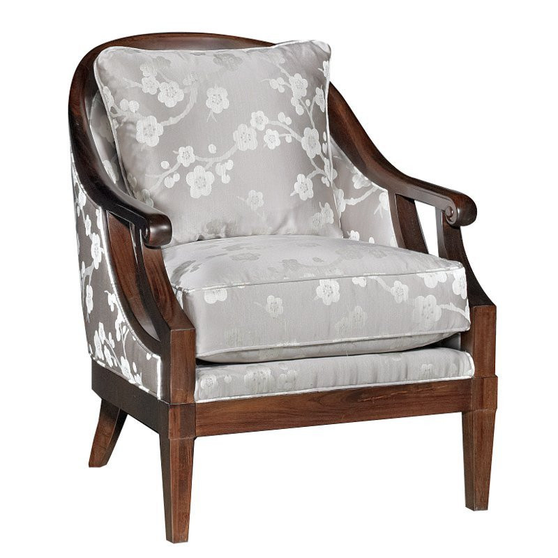 Traditional Living Room Upholstered Chairs Best Of Melody Gray Floral Upholstered Traditional Accent Chair