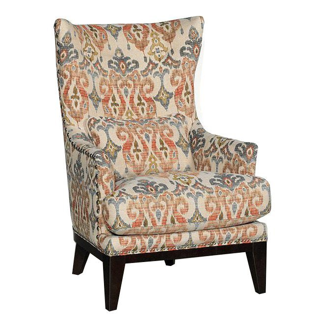 Traditional Living Room Upholstered Chairs Best Of Silver Lake Sand Patterned Upholstered Traditional Wingback Chair