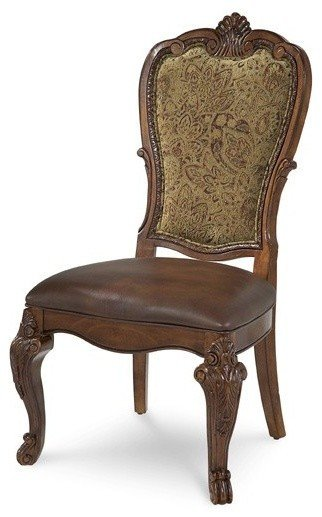 A R T Furniture Old World Upholstered Back Side Chair Traditional Living Room Chairs by