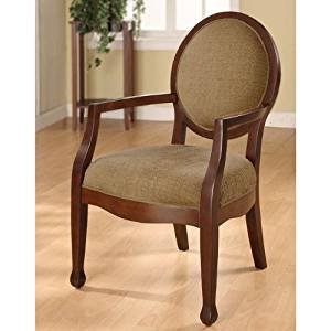 Traditional Living Room Upholstered Chairs Lovely Amazon Traditional Wood Arm Chair This Stunning Oval Back Chair Features A fortable
